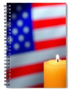 American Flag And Candle Spiral Notebook