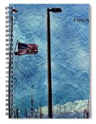 American Flag As A Painting Spiral Notebook