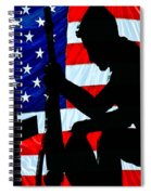 A Time To Remember American Flag At Rest Spiral Notebook