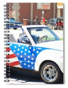 American Flag Car Spiral Notebook