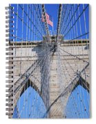 American Flag Flying Over Brooklyn Spiral Notebook