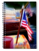 American Flag Focus Spiral Notebook