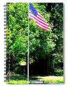 American Flag - Honoring John Spiral Notebook