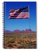 American Flag In Monument Valley Spiral Notebook