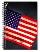 American Flag In Smoke Spiral Notebook