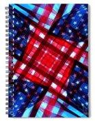 American Flag Kaleidoscope Spiral Notebook