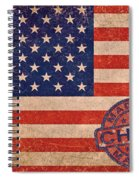American Flag Made In China Spiral Notebook