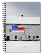 American Flag On A Pennsylvania Barn Spiral Notebook