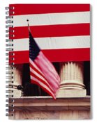 American Flag On The Front Spiral Notebook