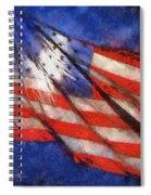 American Flag Photo Art 02 Spiral Notebook
