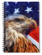 American Flag Photo Art 04 Spiral Notebook