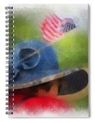 American Flag Photo Art 05 Spiral Notebook