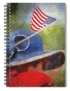 American Flag Photo Art 06 Spiral Notebook