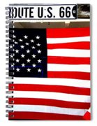 American Flag Route 66 Spiral Notebook