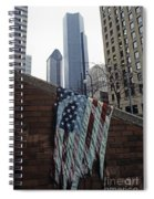 American Flag Tattered Spiral Notebook