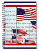 American Flag Tribute  Spiral Notebook