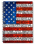 American Flag - Usa Stone Rock'd Art United States Of America Spiral Notebook