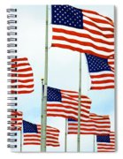 American Flags Spiral Notebook