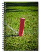 American Football Field Marker Spiral Notebook