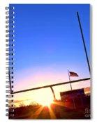 American Football Goal Posts Spiral Notebook
