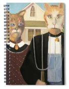 American Gothic Cat Spiral Notebook