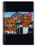 American Gothic Cats - A Parody Spiral Notebook