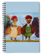 American Gothic Down On The Farm - A Parody Spiral Notebook