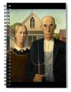 American Gothic Duvet Spiral Notebook