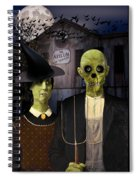 American Gothic Halloween Spiral Notebook