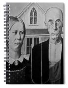 American Gothic In Black And White 1 Spiral Notebook