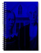 American Gothic In Blue Spiral Notebook