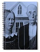 American Gothic In Colors Spiral Notebook
