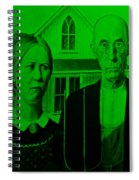 American Gothic In Green Spiral Notebook
