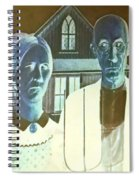 American Gothic In Negative Spiral Notebook