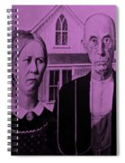 American Gothic In Pink Spiral Notebook