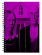 American Gothic In Purple Spiral Notebook