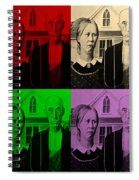 American Gothic In Quad Colors Spiral Notebook