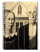 American Gothic In Sepia Spiral Notebook