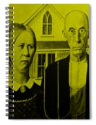 American Gothic In Yellow Spiral Notebook