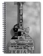American Guitar In Black And White Spiral Notebook