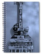 American Guitar In Cyan Spiral Notebook