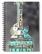 American Guitar In Neagtive Spiral Notebook