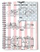 American Made Corvette Patent Spiral Notebook