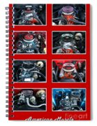 American Muscle Red Poster Spiral Notebook