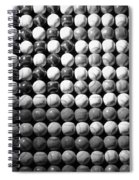 American Pastime In Black And White Spiral Notebook
