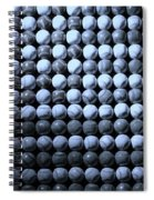 American Pastime In Cyan Spiral Notebook