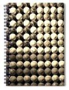 American Pastime In Sepia Spiral Notebook