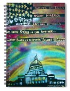 American Rainbow Spiral Notebook