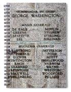 American Revolutionary War Generals Spiral Notebook