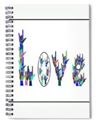 American Sign Language I Love You On White Spiral Notebook